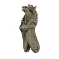 Style & Co. Womens Ruched Textured Crew Socks