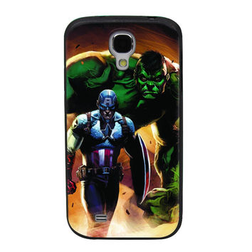Captain America & The Hulk TPU Soft Shell Jelly Silicone Case for Samsung Galaxy S4
