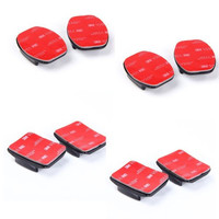 4pcs Curved+4pcs Flat Adhesive Mounts Sticky for GoPro Hero Cameras