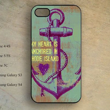 Nautical Phone case,anchor case,iphone 5s case,iPhone 5c Case,iphone 5 case,iphone 4 case,samsung galaxy S4 S3,hipster phone case X-142