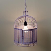 The Land of Nod: Kids Lighting: Purple Birdcage Pendant Light in Ceiling Fixtures
