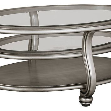 Coralayne Occasional Tables - Oval Cocktail or Round End Table