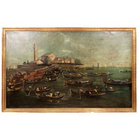 1STDIBS.COM - Daniel Stein Antiques - Large and Impressive Venetian Harbor Scene
