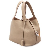 Fengyaqiandai Leather ST Style Shopping Bucket Bag Genuine Leather Shoulder-handbags