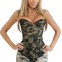 Daisy Corsets Strapless Camouflage Corset Top
