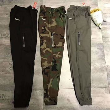 Supreme Men Fashion Casual Print Sport Stretch Pants Trousers Sweatpants G-WMGCD