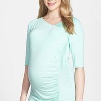Women's Japanese Weekend Asymmetrical Maternity Top,