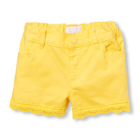 Toddler Girls Crochet-Trim Shorts | The Children's Place
