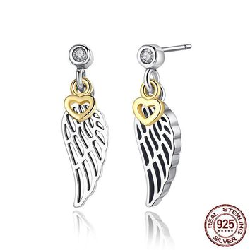 Love & Guidance Feather Stud Earrings