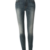LE3NO Womens Highwaisted Skinny Denim jean Pants with Pockets (CLEARANCE)