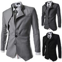Men's Fashion Slim Fit Designer Cut Blazer Jacket
