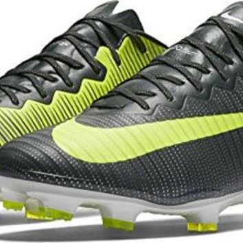ONETOW Nike Mercurial Vapor XI CR7 FG Mens Football Boots 852514 Soccer Cleats (US 12.5, seaweed volt hasta 376)