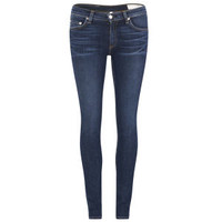 rag & bone Women's The Skinny Mid Rise Wonderland Jeans - Indigo Clothing - Free UK Delivery over £50