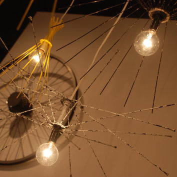 Constellation a cluster of ReCycled bike lighting by ReMainDesigns
