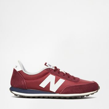 New Balance 410 Burgundy Trainers