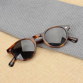 Oliver peoples high quality ov5186 sunglasses man and women unisex sunglasses vintage sunglasses with polarized lens oculos de