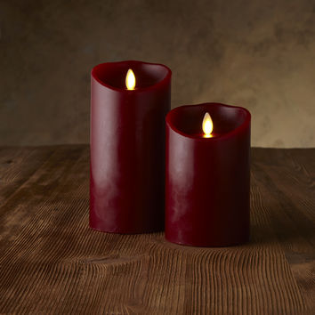 "Classic Pillars - Red Cinnamon Scented - 5"" or 7"""