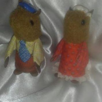 VINTAGE FISHER PRICE WOODSEY SQUIRREL FINGER PUPPETS 1979