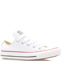 Converse White Chuck Taylor Leather Low Trainers | Trainers by Converse | Liberty.co.uk