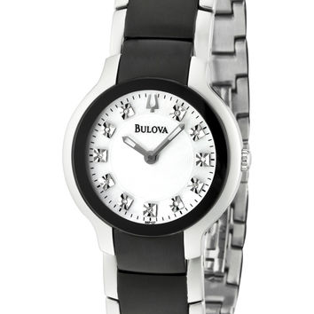 Bulova 98P127 Women's Two Tone SS Diamond Quartz Watch
