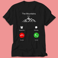 The Mountain Mobile Remind me, Message, Decline, Accept in IPhone Sreen - TShirt - Multi Size Color