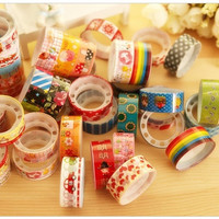 Hot sale 10 Pcs Colorful Mixed Styles Cartoon Hobby DIY Decorative Crafting Adhesive Tape