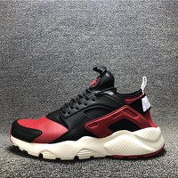 Best Deal Online Nike Huarache Black White Red Running Shoes