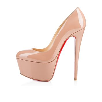 Victoria 160mm Nude Patent Leather