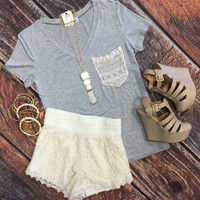 Lovely Lace Shorts: Ivory