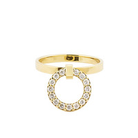 LANA Lana Diamond Link Drop Ring, Size 7