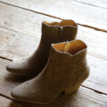 Rhythm Stitched Boot, Taupe