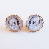 Now or Never Skull Stud Earrings