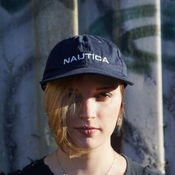 Nautica Dad Hat Vintage Adjustable Nylon Strapback