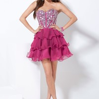 Hannah S 27731 Strapless Homecoming Dress