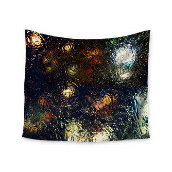 "Robin Dickinson ""Blinded"" Water Black Wall Tapestry"