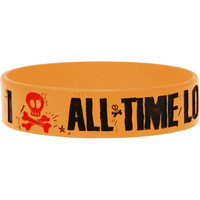 All Time Low Men's Heart Bone Rubber Bracelet Yellow