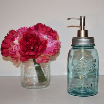 Mason Jar Soap Dispenser Vintage Blue Ball Perfect Mason Jar Soap Pump Kitchen Soap Dispenser Bathroom Soap Dispenser