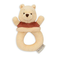 Disney Winnie the Pooh Plush Baby Rattle Toy
