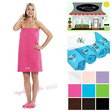 Personalized Spa Wrap Wedding Party Gifts for Bride, Maid Of Honor, Bridesmaids