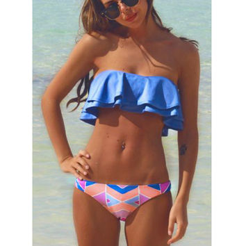 Super Quality Bikinis Women Swimsuit Push Up Swimwear Women 2017 Sexy Bandeau Print Brazilian Bikini Set Beach Bathing Suit Swim Wear