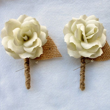 Pick your color! Customizable Set of 2 or 5 Paper Flower Boutonnieres