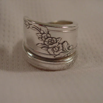 A Spoon Rings Plus Wrapped Queen Bess Spoon Ring Size 6 Handmade Hippie Rings t210