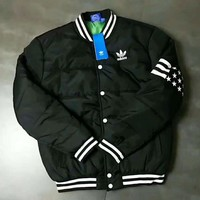 """Adidas"" Women Fashion Cardigan Jacket Coat Black I-A001-MYYD"