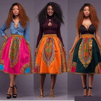 African Womens Printed Dashik Skirt