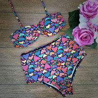 New Arrival Swimsuit Summer Hot Beach Sexy Ladies High Waist Swimwear Bikini [11720386959]