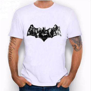Unique  design summer fashion men's shirts Dark Squad VS Suicide Squad T-Shirt novelty casual male Tops Cool hipster boy Tees