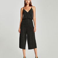 STRAPPY JUMPSUIT WITH CROSSOVER NECKLINE DETAILS