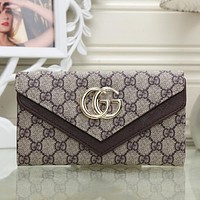 Gucci Women Fashion Leather Buckle Purse Wallet
