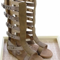 Joyfolie Finley Fossil Gladiator Sandals for Girls