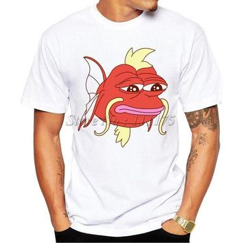 VLX85E Beauty Ticks Men S 2017 Fashion Cartoon Magikarp Design T Shirt Boy Cool Tops Hipster Fish Printed Summer T-shirt